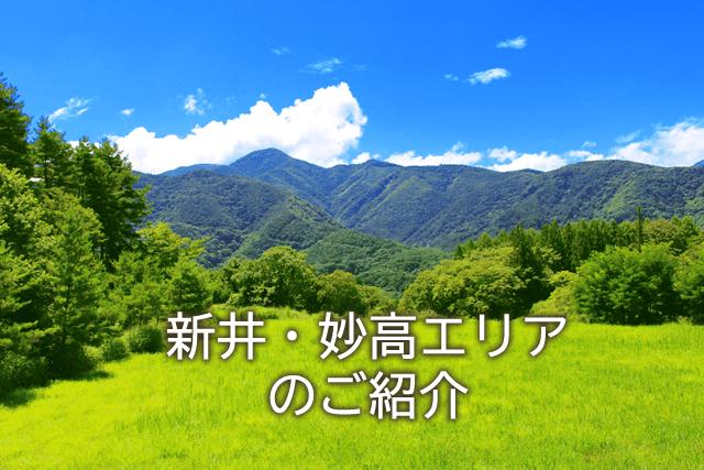 新井・妙高エリアのご紹介